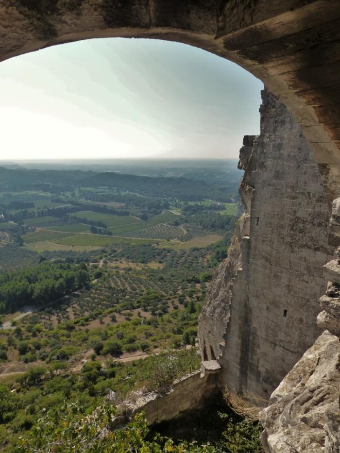 View from Chateau des Baux