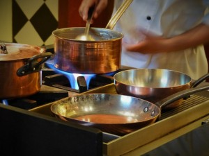 Cooking in copper