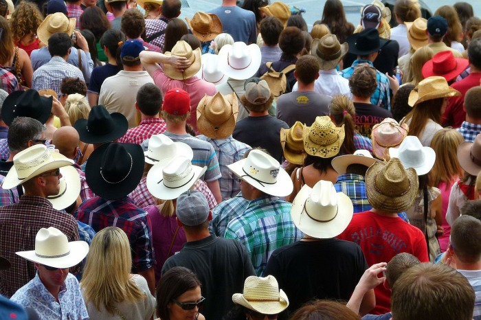 Cowboy hat crowd (Creative Commons shot)