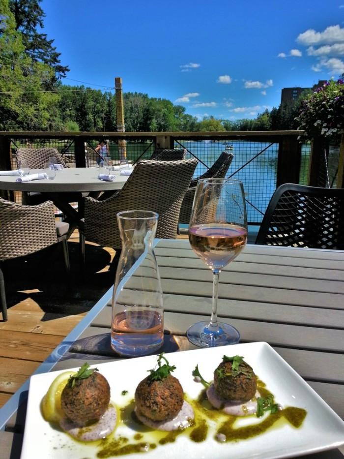 Falafel and wine