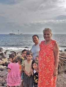 Serua Island welcoming committee
