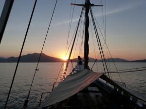 The Katharina at sea