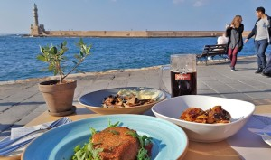 lunch at taverna monastiri, chania
